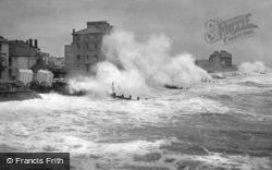Rough Seas From The Pier 1890, Bognor Regis