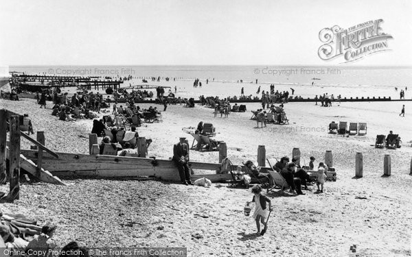Bognor Regis, The Beach c.1955