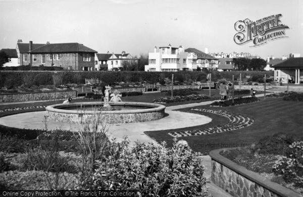 Photo of Bognor Regis, The Fountain, Marine Gardens c.1950