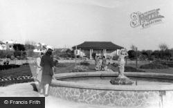 Bognor Regis, The Fountain, Marine Gardens c.1955