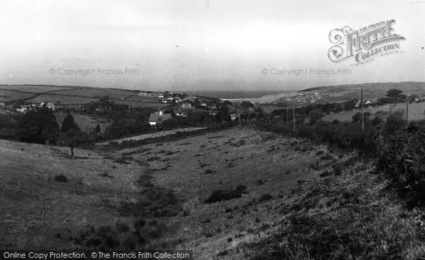Bolingey, Village & Perranporth Beach From Cox's Hill c.1955