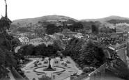 Bollington, Memorial Gardens From The Aqueduct c.1955