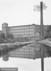 Bollington, The Canal And Clarence Mill c.1955