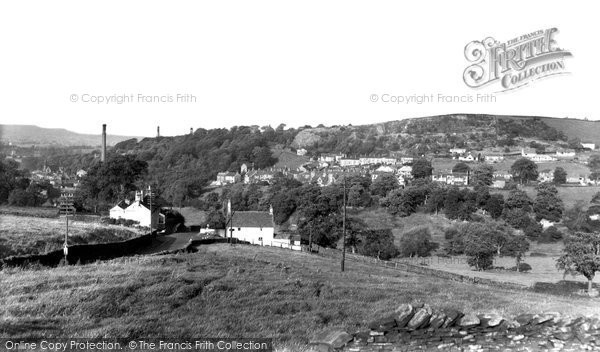 Bollington, View From Blaze Hill c.1960