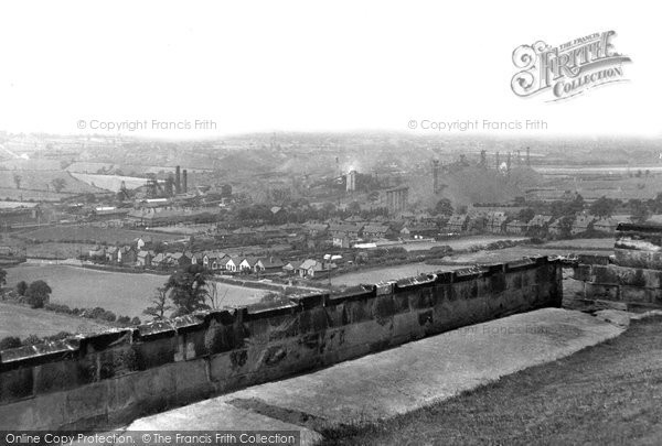Bolsover, view from the Castle c1955