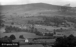 Beamsley Beacon From Hater Hill Stile 1923, Bolton Abbey