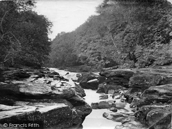 Bolton Abbey, Bolton Woods, The Strid c.1867