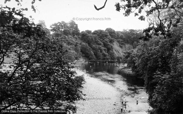 Photo of Bolton Abbey, River Wharfe c.1960