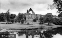 Bolton Abbey, The Abbey From The River c.1965