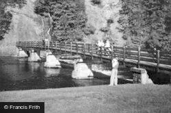 Bolton Abbey, The Footbridge c.1950