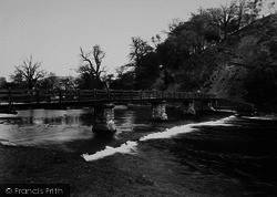 Bolton Abbey, The Footbridge c.1955