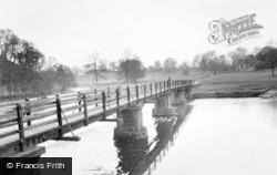 Bolton Abbey, The Footbridge c.1960
