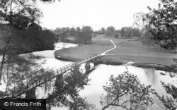 Bolton Abbey, The River And Footbridge c.1955