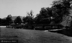 Bolton Abbey, The River And Footbridge c.1965