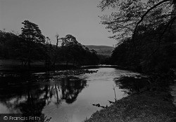 Bolton Abbey, The River, Cavendish Woods c.1955