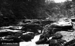 Bolton Abbey, The Strid, Cavendish Woods c.1955