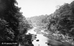 View Above The Strid 1886, Bolton Abbey
