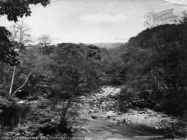 Bolton Abbey, Woods, On The Wharfe c.1874