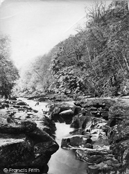 Bolton Abbey, Woods, The Strid c.1874