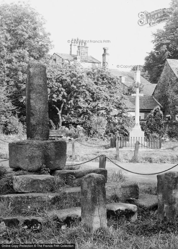 Bolton By Bowland, Stocks and War Memorial c1950