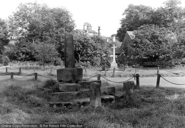 Bolton By Bowland, Stocks And War Memorial c.1955