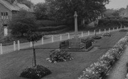 Bolton By Bowland, The Memorial And Gardens c.1955