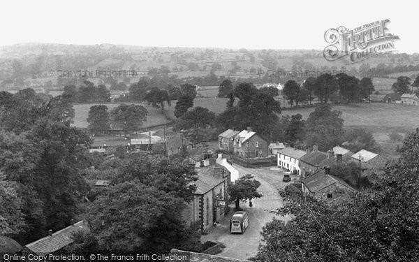 Bolton By Bowland, The Village From The Church Tower c.1955