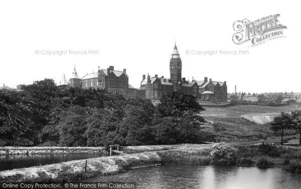 Bolton, Infirmary From Park 1895