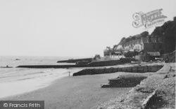 Bonchurch, Beach From The Breakwater c.1955