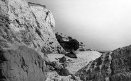 Bonchurch, Beach From The West c.1955