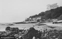 Bonchurch, East Dene Beach c.1955