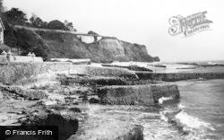 Bonchurch, Old Breakwaters c.1950