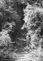 Bonchurch, Path To The Devils Chimney c.1960