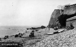 Bonchurch, The Beach c.1955