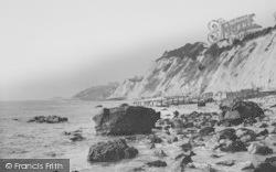 Bonchurch, The Beach Towards Ventnor c.1955