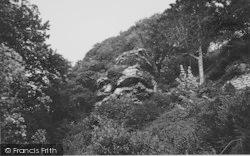 Bonchurch, The Pulpit Rock c.1955