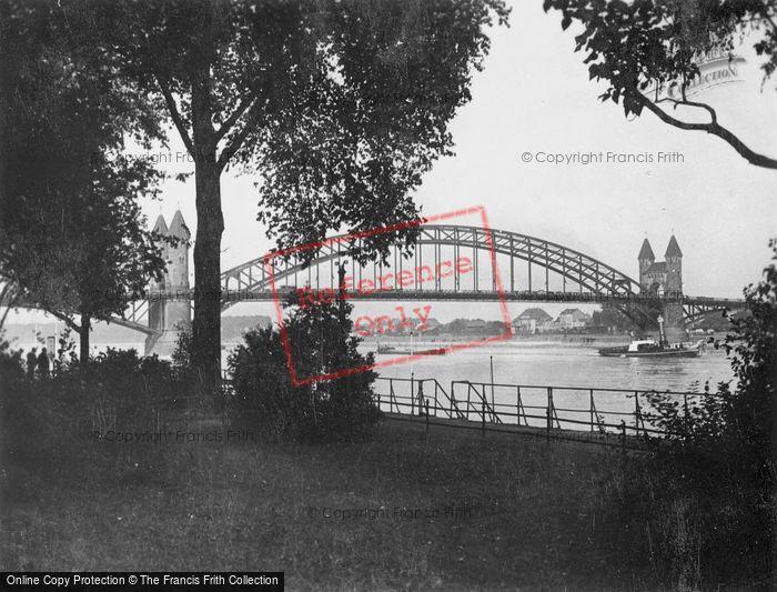 Photo of Bonn, The Rhine Bridge c.1930