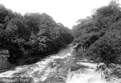 Bonnington Falls, River Clyde 1897, Bonnington Linn