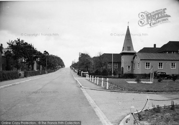 Bordon, St George's Church, Budds Lane c.1955