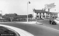 Boroughbridge, The Grantham Arms And Roundabout c.1955