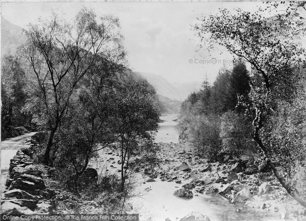 Borrowdale, Birches And River Derwent c.1880