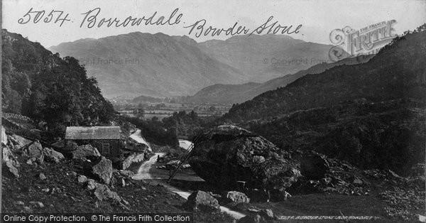 Borrowdale, Bowder Stone c.1870