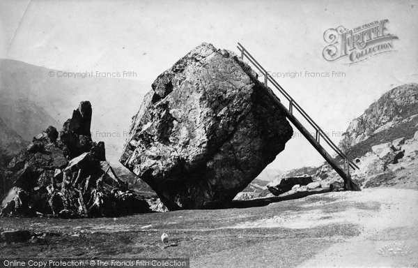 Borrowdale, Bowder Stone c.1880