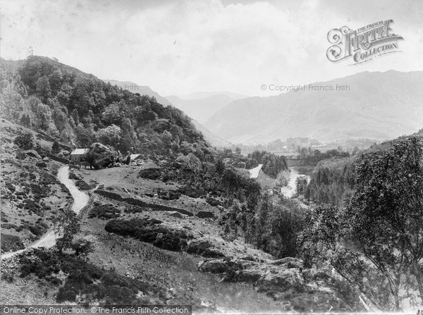 Borrowdale, Valley And The Bowden Stone c.1880