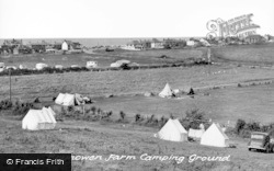 Borth, Brynowen Farm Camping Ground c.1950