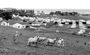 Borth, Brynowen Farm Caravan Park c1960