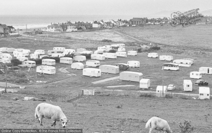 Photo of Borth, Brynowen Farm Caravan Park c.1960