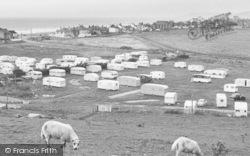 Borth, Brynowen Farm Caravan Park c.1960