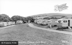 Borth, Caravan Park c.1960