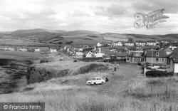 Borth, Cliff Road c.1960